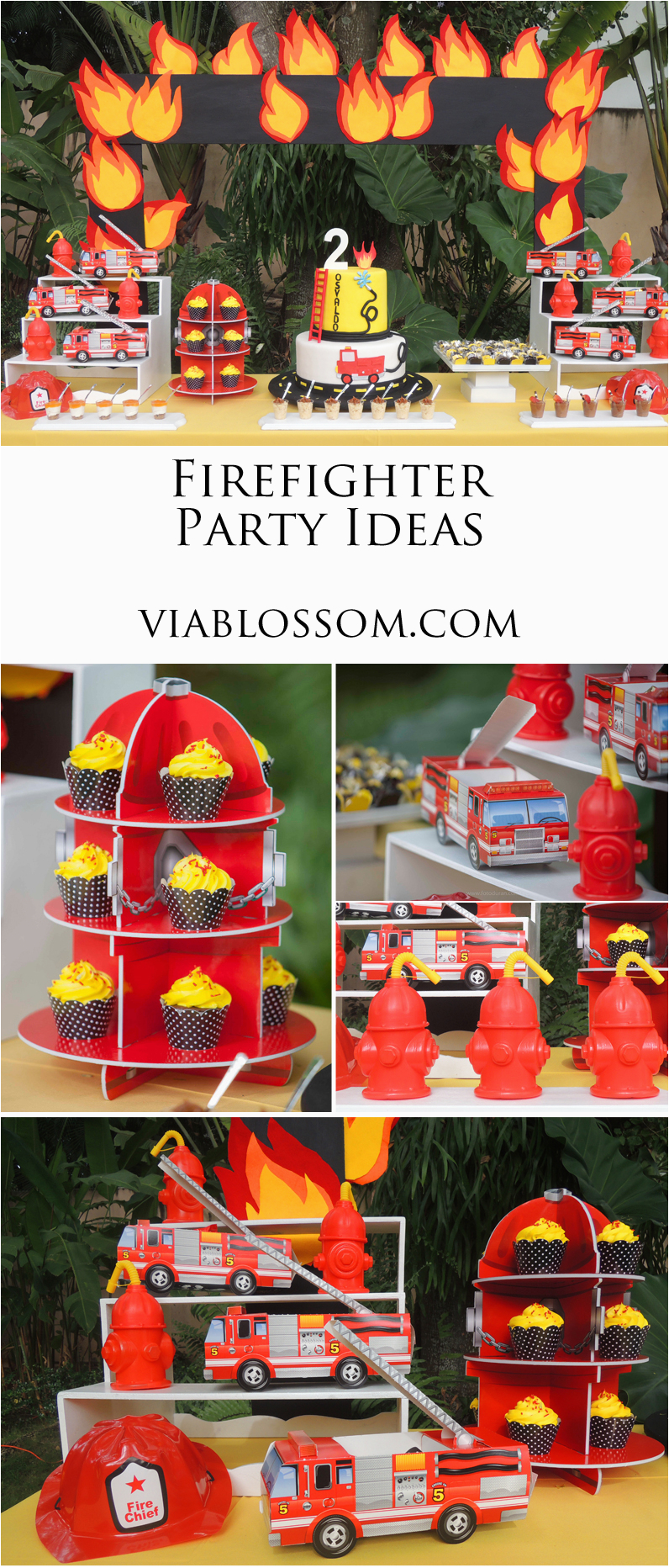 Firefighter Birthday Decorations Firefighter Birthday Party Via Blossom