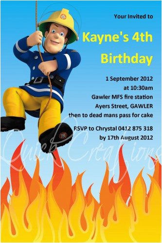 childrens birthday invitations fireman sam birthday invitation