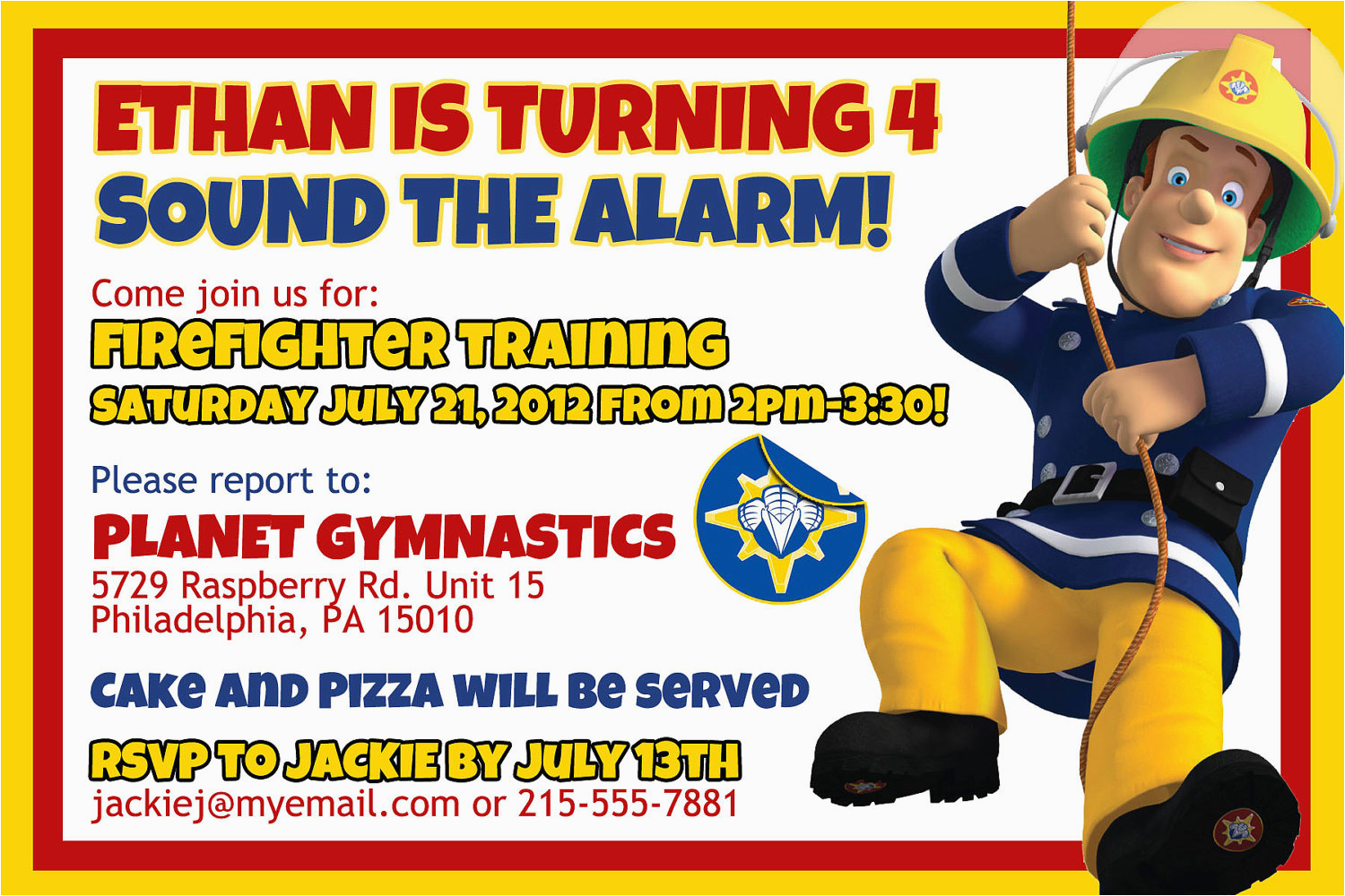 Fireman Sam Birthday Invitations Firefighter Birthday Invitation Ideas Bagvania Free