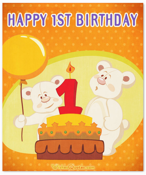 1st Birthday Wishes Cute Baby Messages
