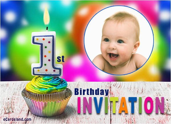 First Birthday Ecard Invitation Free 1st Choose From Invitations