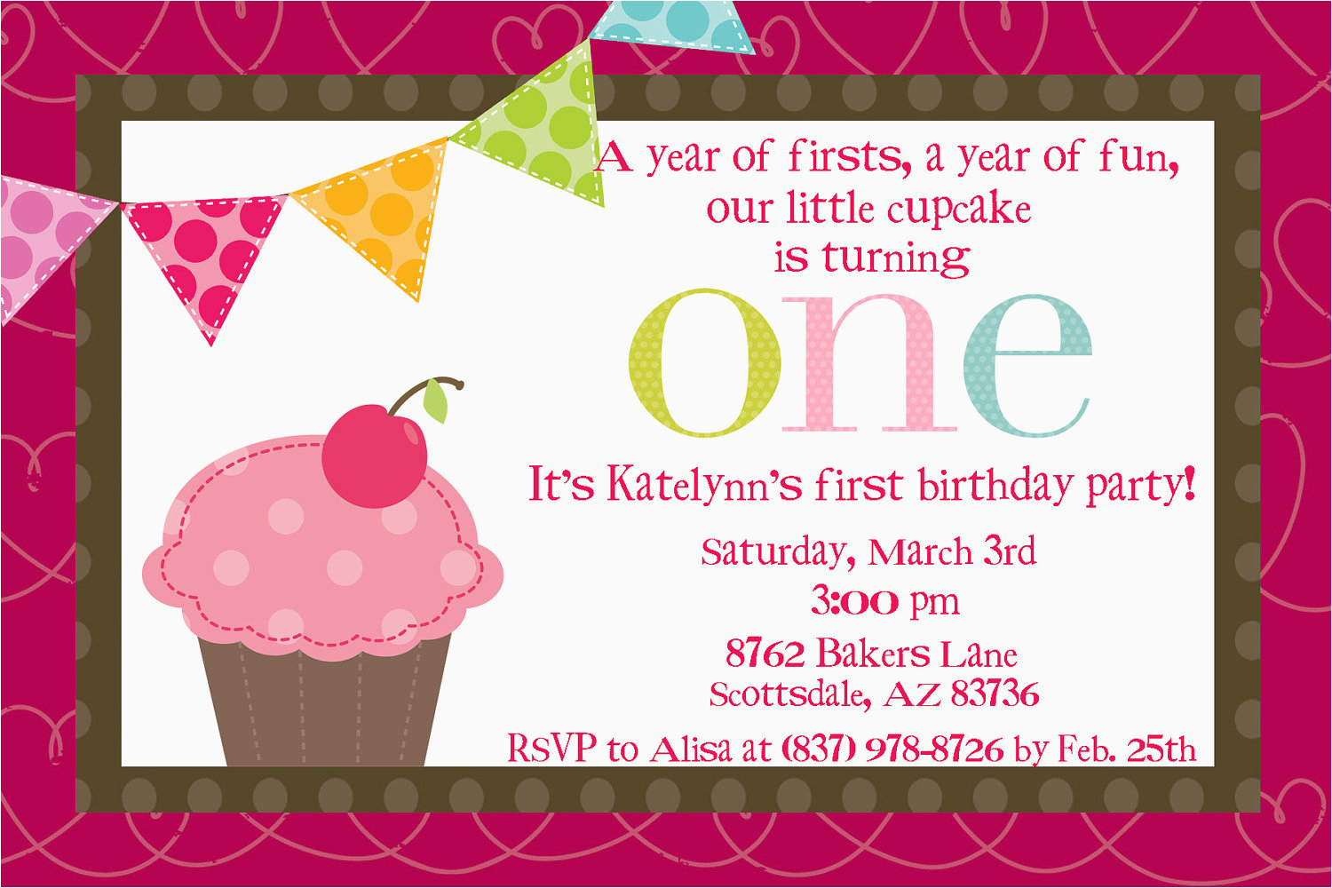 First Birthday Ecard Invitation Free Email Invitations