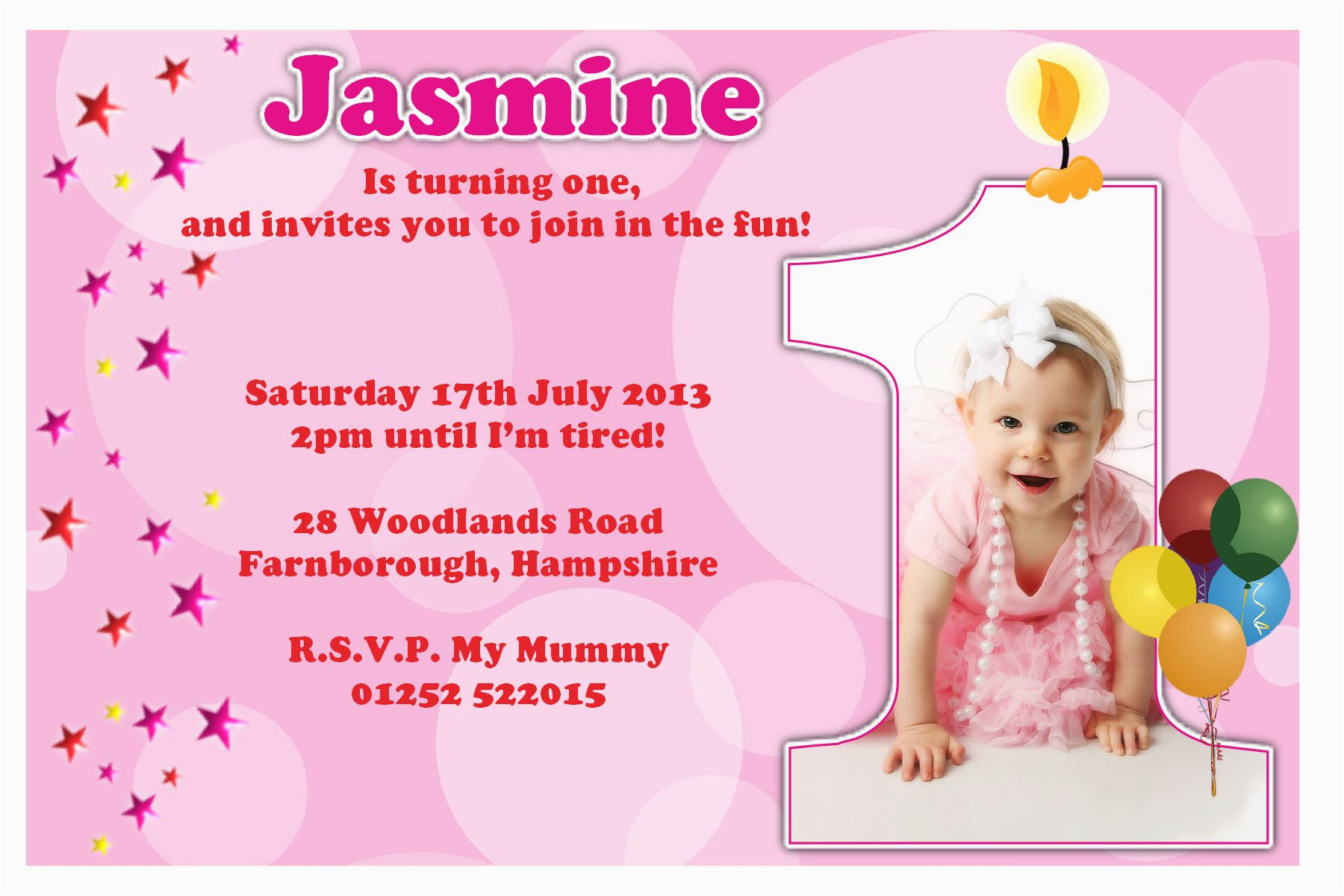 1st birthday invitations girl free template baby girl 39 s