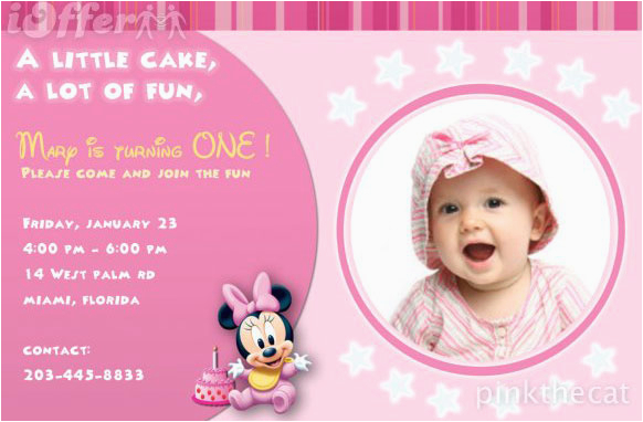 1st birthday photo invitations girl so pretty