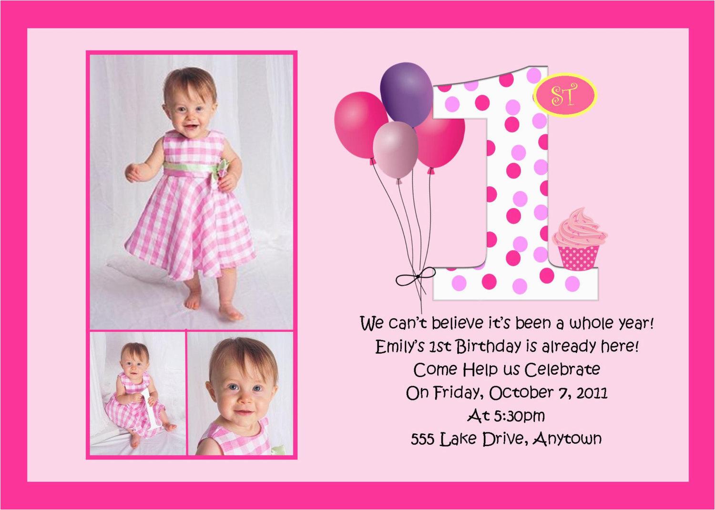 First Birthday Invitation Quotes For Girl Birthdaybuzz