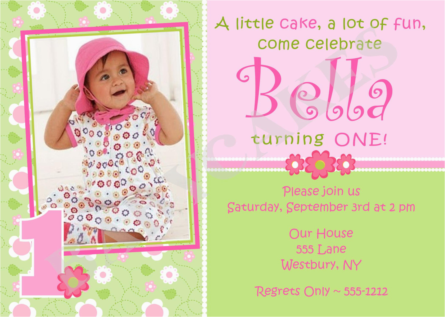 First Birthday Invitation Quotes For Girl 1st Invitations Free Template Baby 39 S
