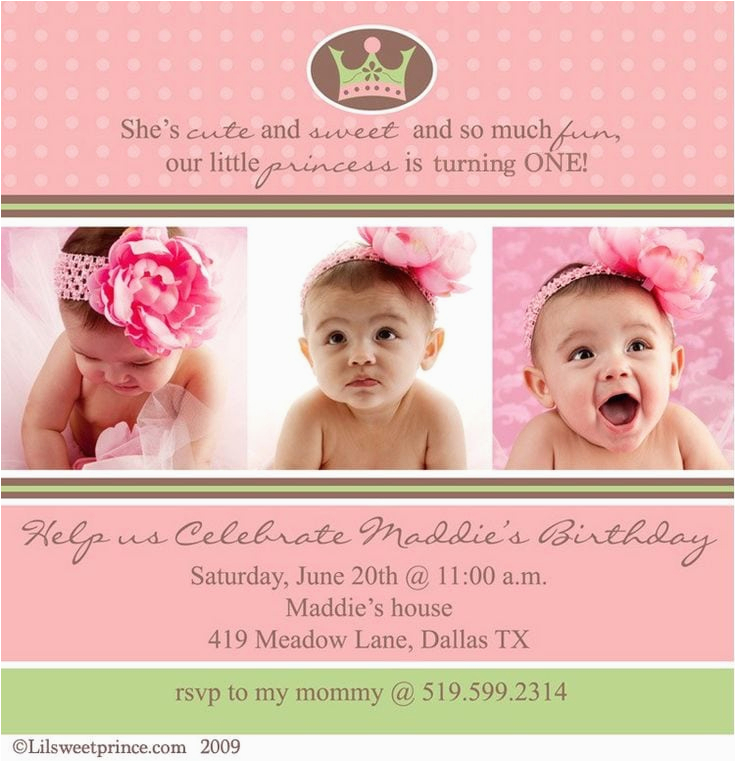First Birthday Invitation Quotes For Girl First Birthday Invitation