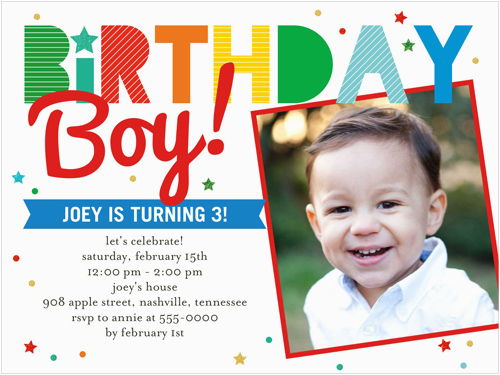 First Birthday Invitations Boy Wording 1st