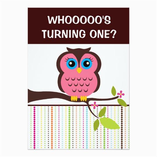 1st birthday owl theme party invitations 161789088575722417