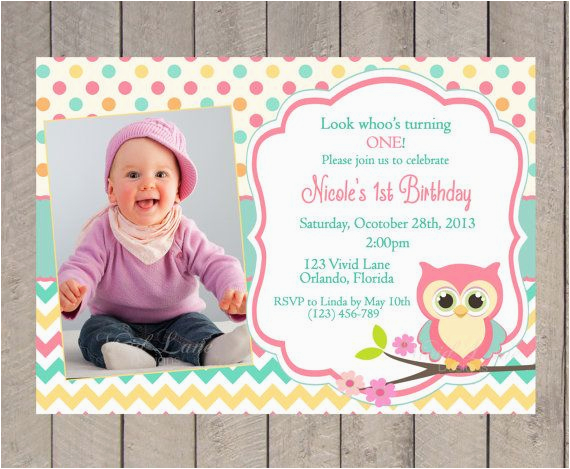 owl invitations for first birthday
