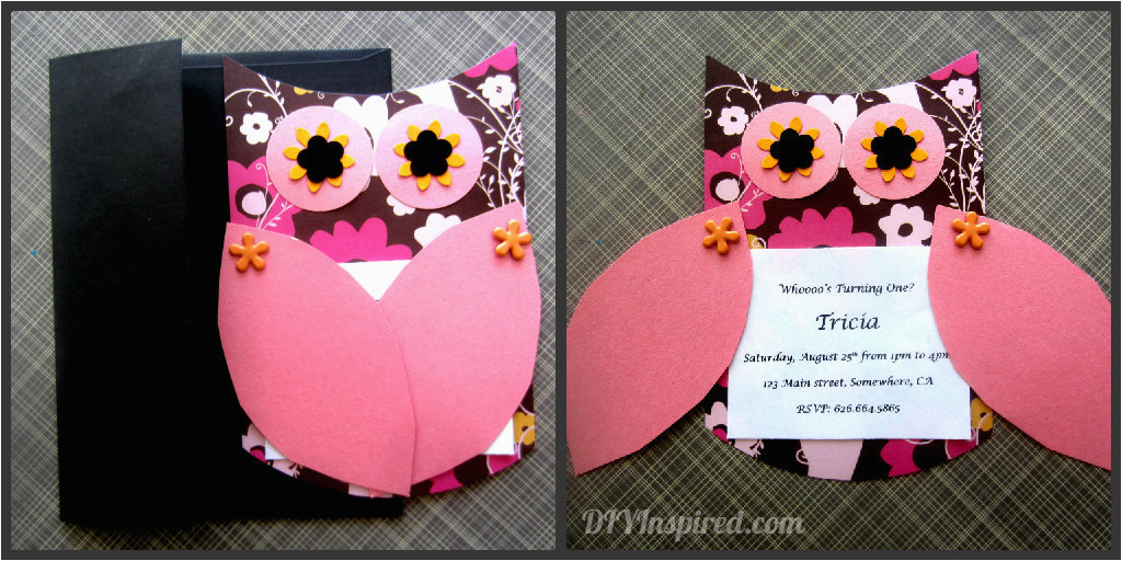 First Birthday Invitations Owl Theme Owl Themed Invitations Diy