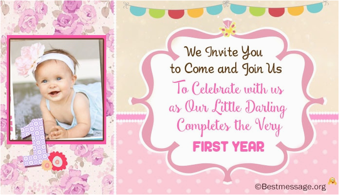 First Birthday Invite Message Unique Cute 1st Invitation Wording Ideas For Kids