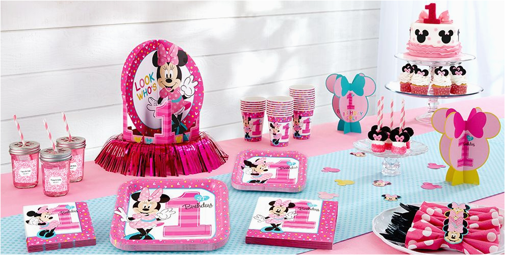 minnie mouse 1st birthday party supplies