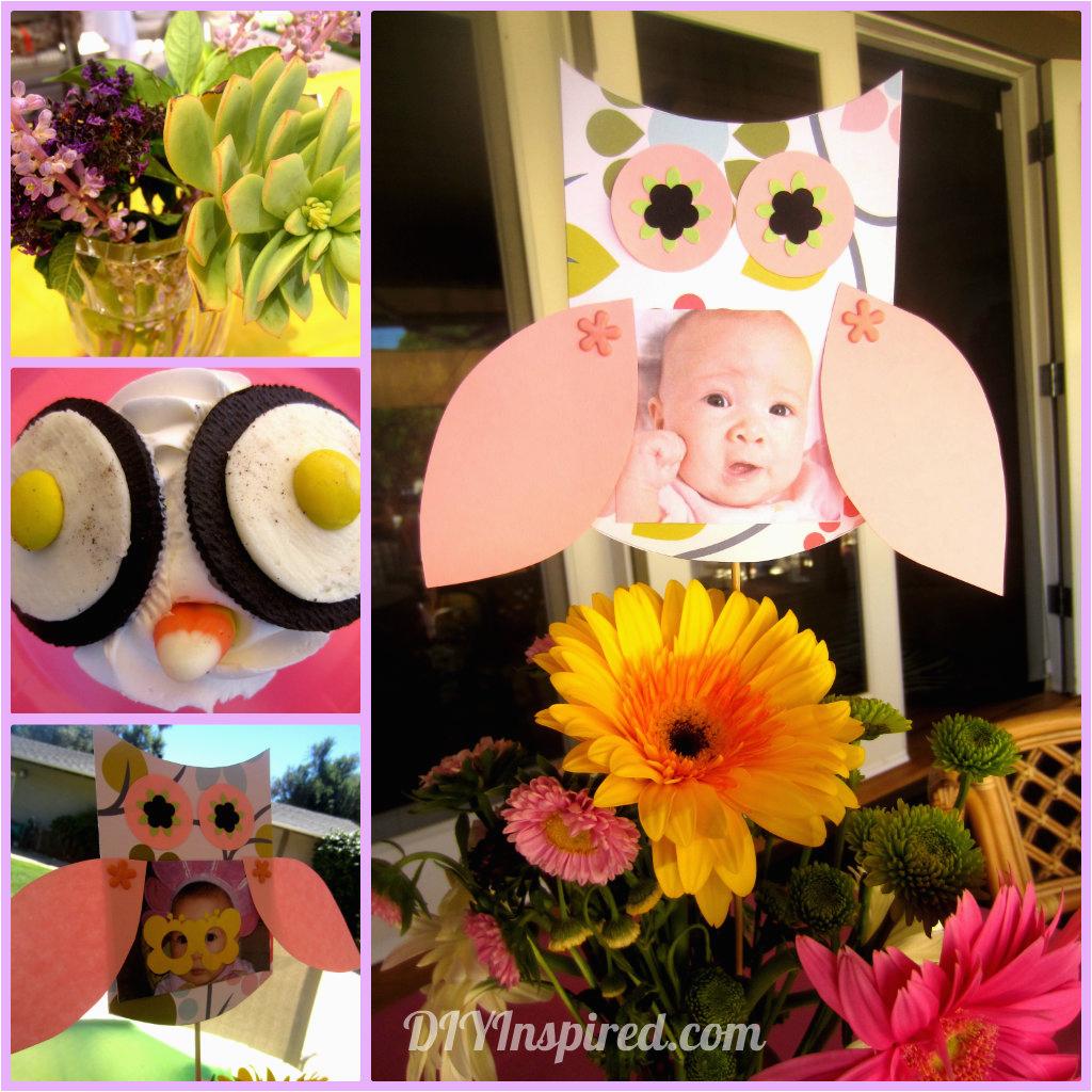 First Birthday Owl Decorations Owl themed First Birthday Diy Inspired