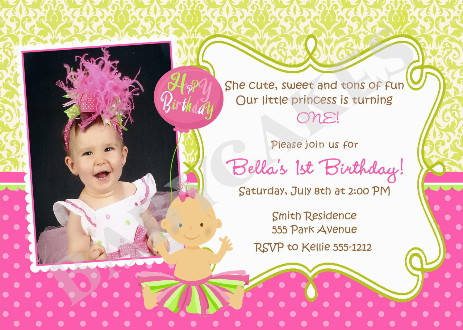 First Birthday Quotes For Invitations 1st Quotesgram