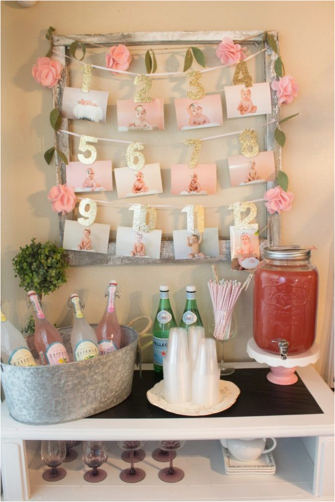21 pink gold first birthday party ideas