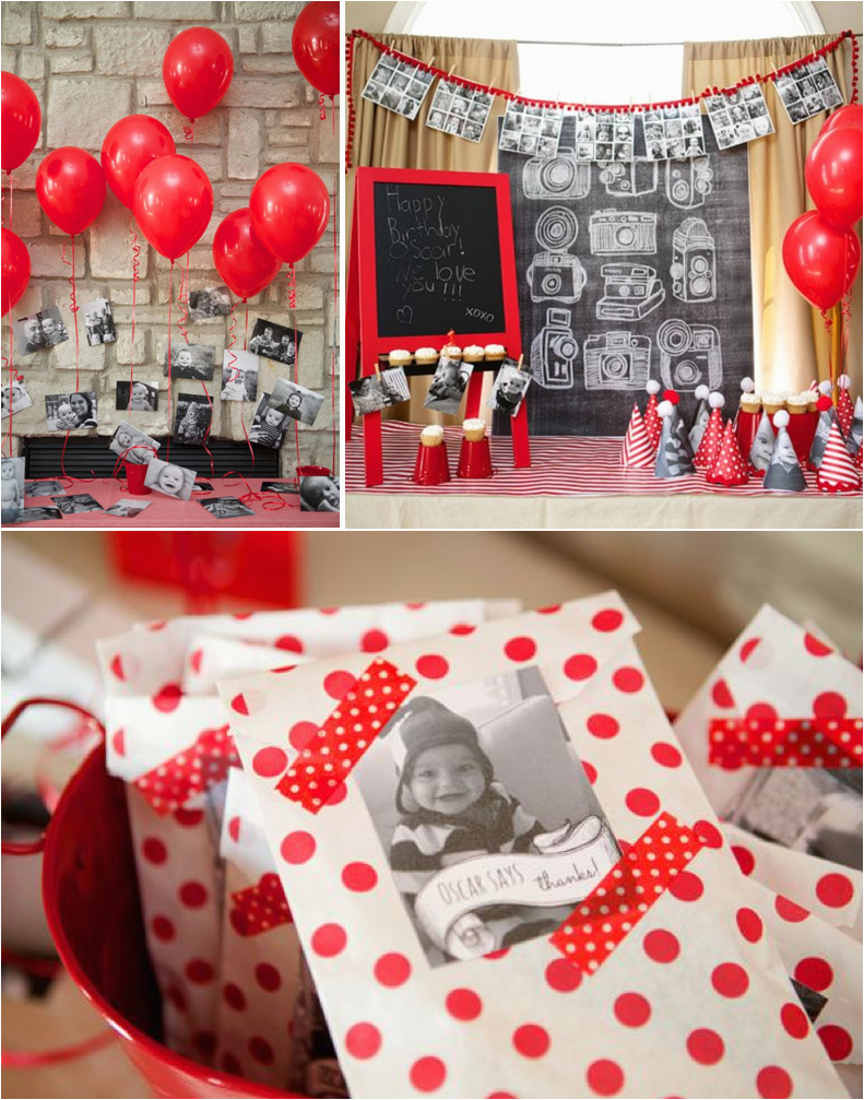 a year in an instant instagram themed 1st birthday party