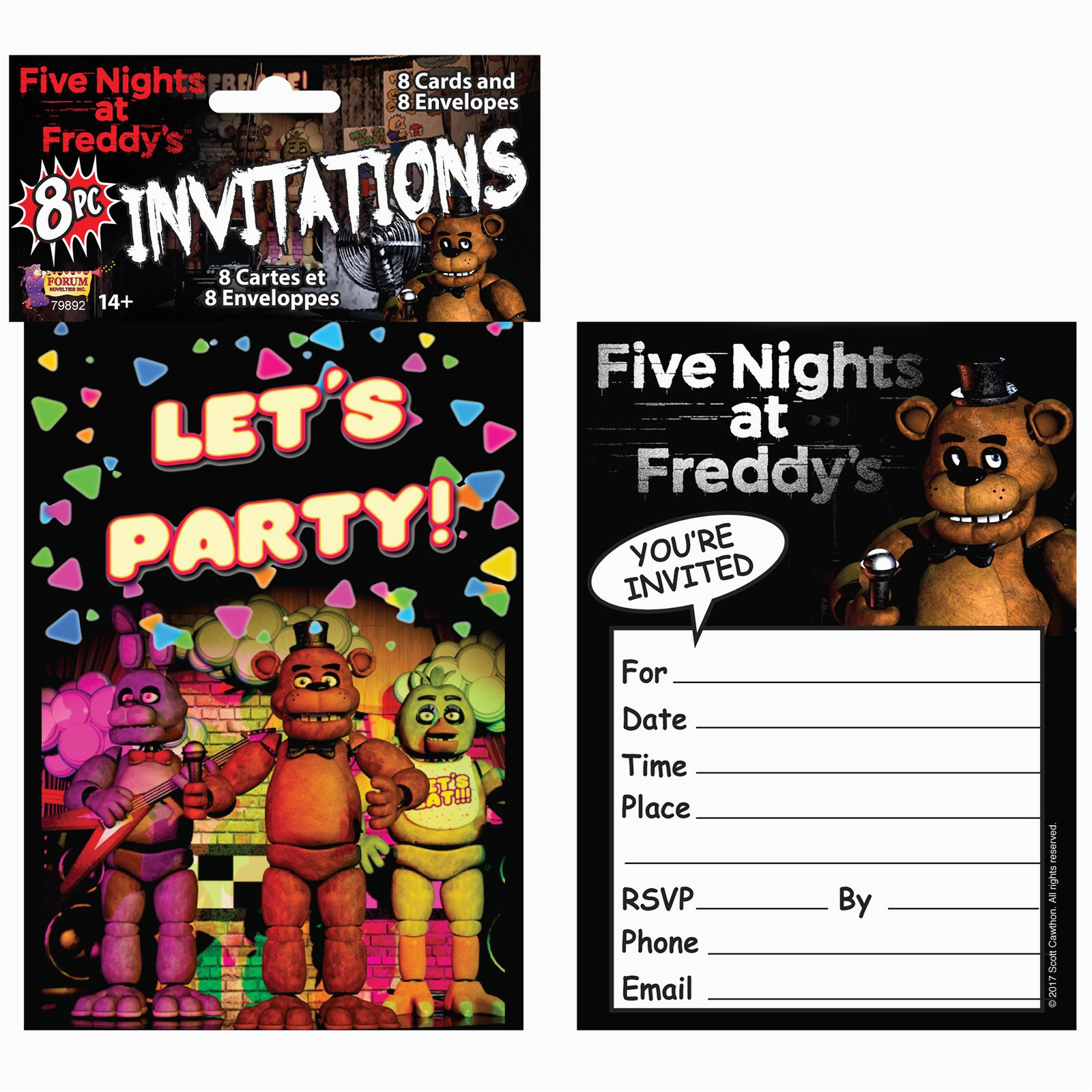 five nights at freddys invitations 8