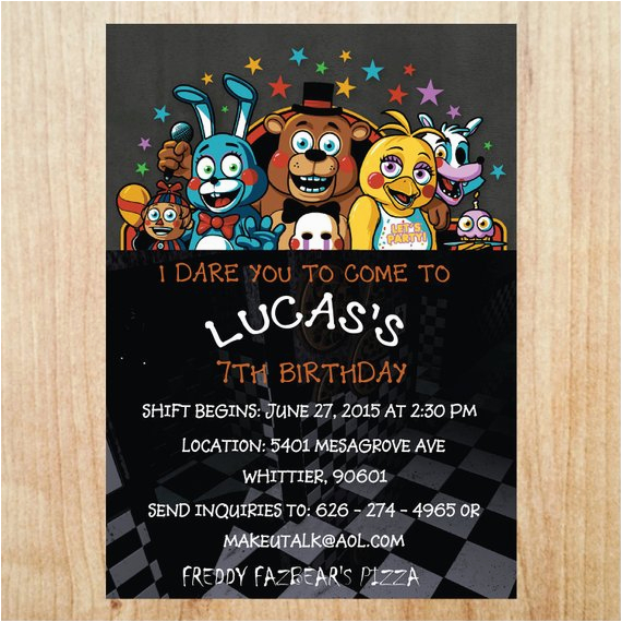 Five Nights At Freddy S Birthday Party Invitations Printable 39 Invitation