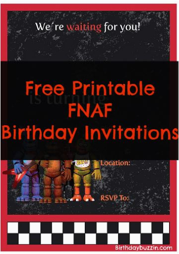 free printable five nights at freddy s birthday