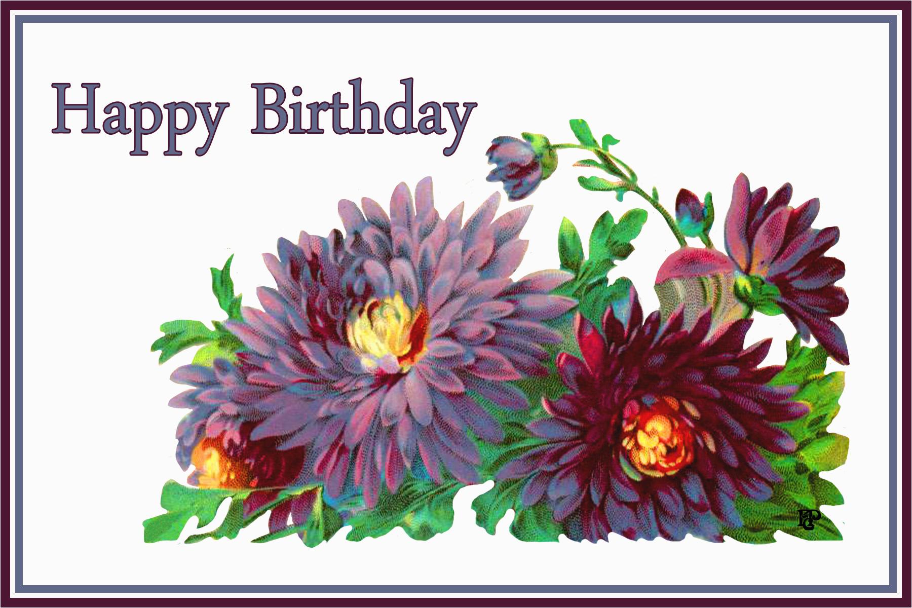 flower greeting cards for birthdays