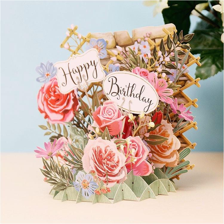 meandmcq happy birthday flowers 3d card temptation gifts
