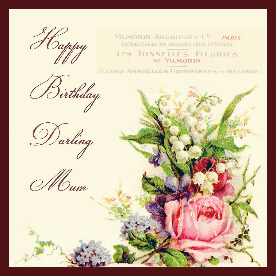 vintage flowers birthday card by amanda hancocks