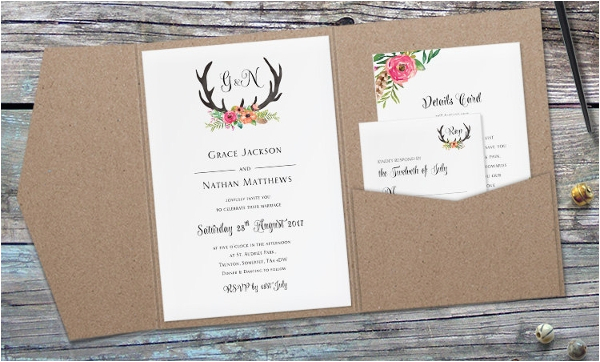 folded invitation