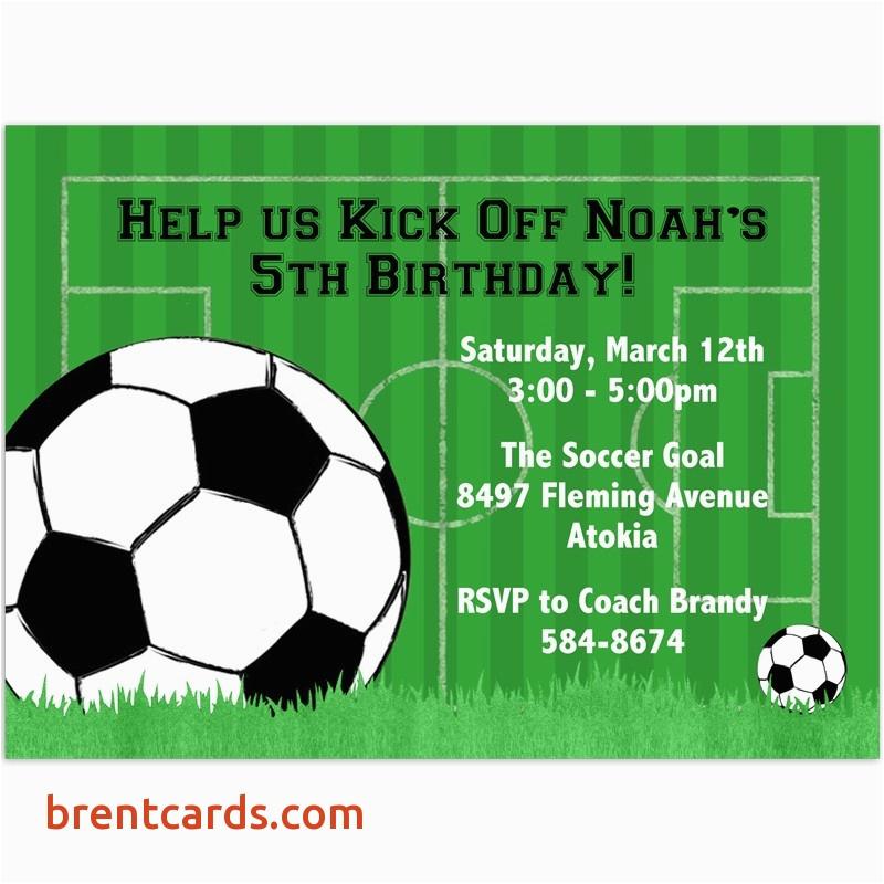 football birthday cards to print elegant free soccer party invitation