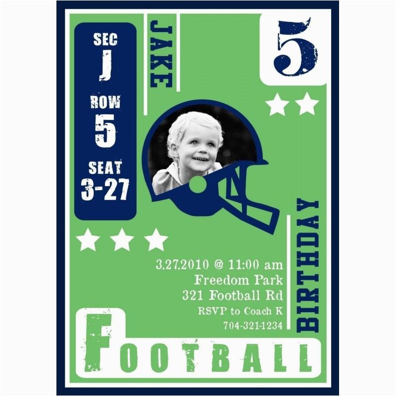 football card invitation
