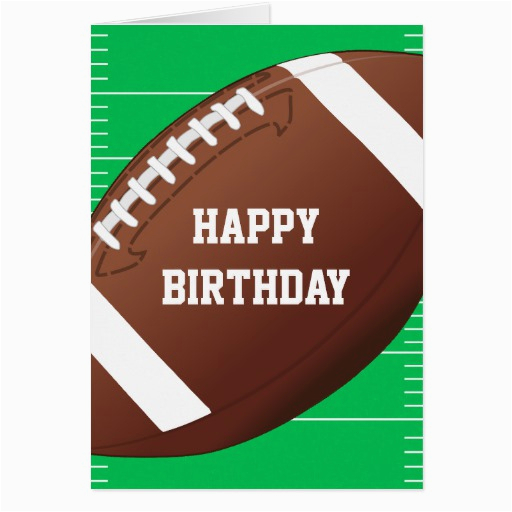 football sports fan birthday greeting card 137815679218320919