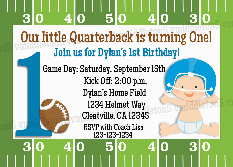 football first birthday invitation print