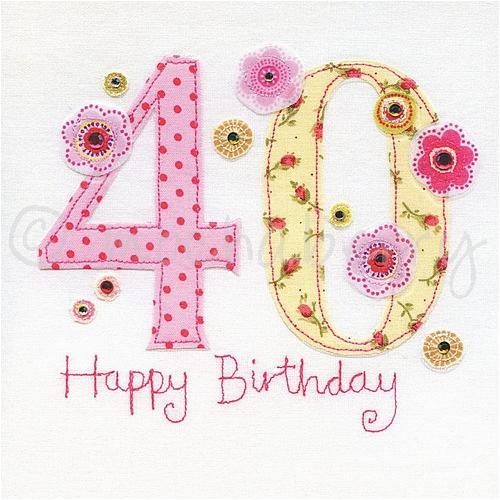 40th birthday card 787 p