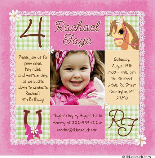 4th birthday invitation wording