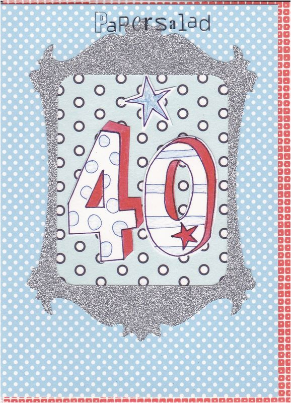 Free 40th Birthday Cards For Him Dotty Card Karenza Paperie