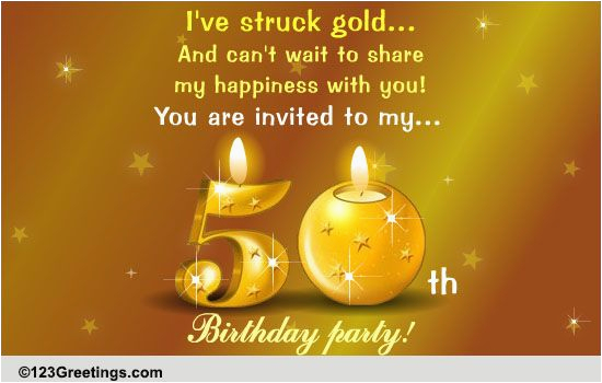 Free 50th Birthday Cards For Facebook Celebration Party Ecards