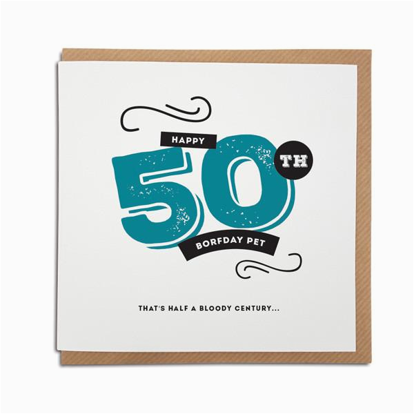 Free 50th Birthday Cards For Facebook Geordie Card Gifts