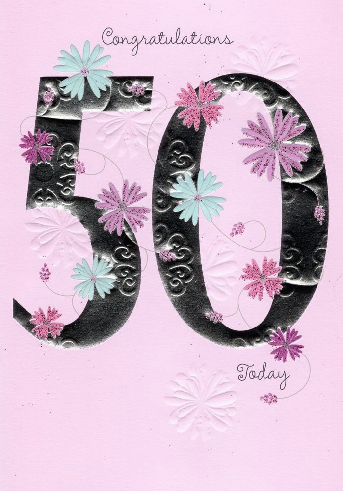 happy 50th birthday greeting card lovely greetings cards