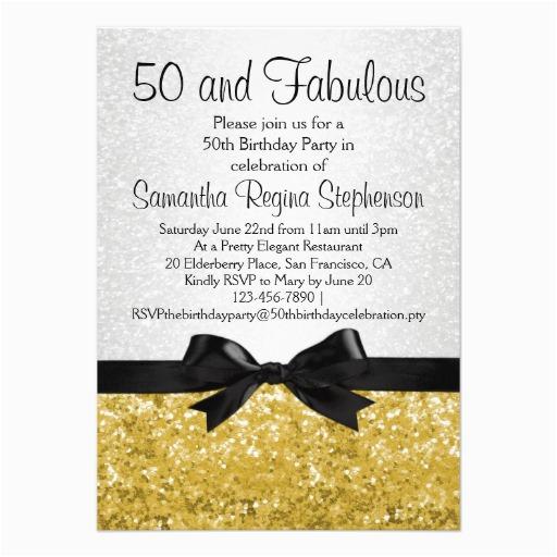 Free 50th Birthday Invitations Party Templates