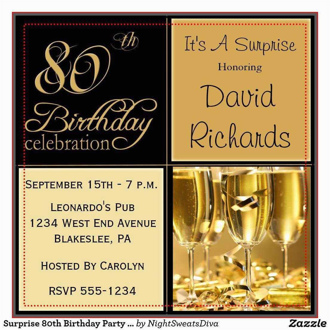 Free 80th Birthday Invitations Templates 15 Sample Ideas