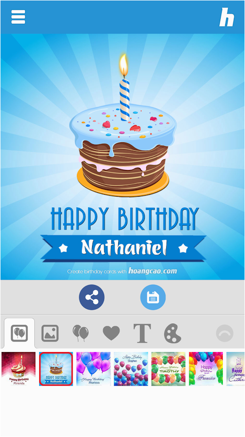 Free Birthday Card Apps Facebook Happy Maker Android On Google Play