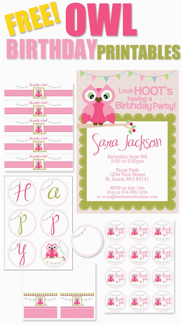 free birthday party printables