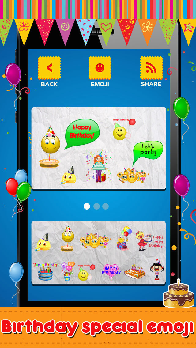 animated 3d birthday emoji wishes cards emoticons app