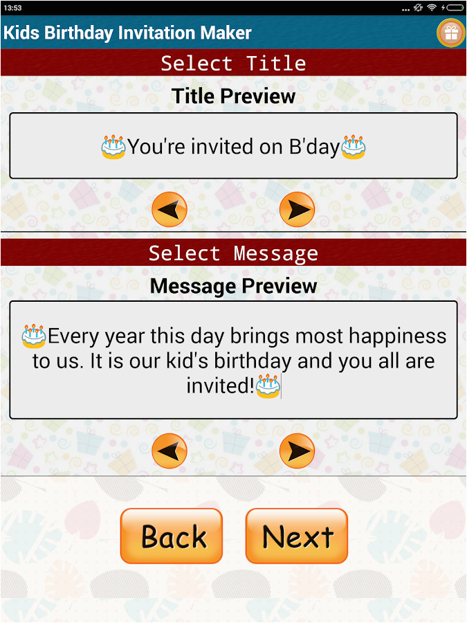 Free Birthday Cards App For Android Kids Invitation Maker Apps On Google Play