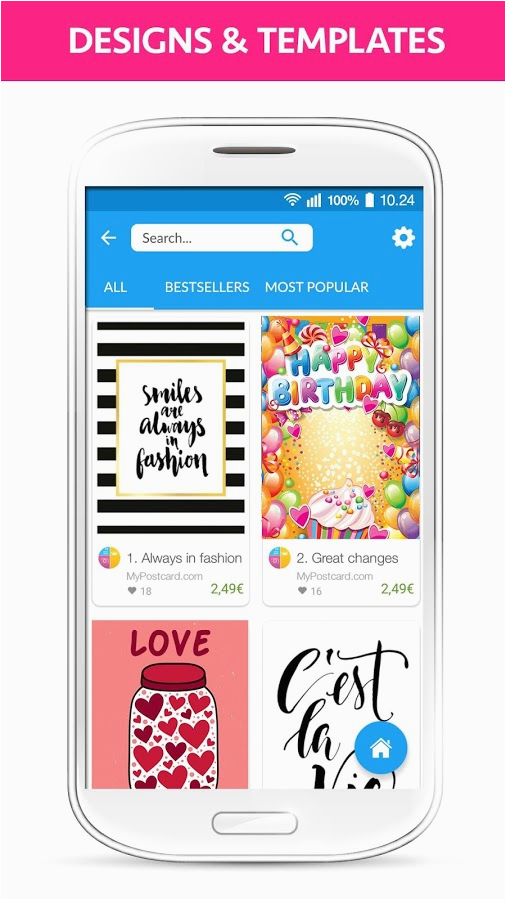 mypostcard greeting cards android apps on google play