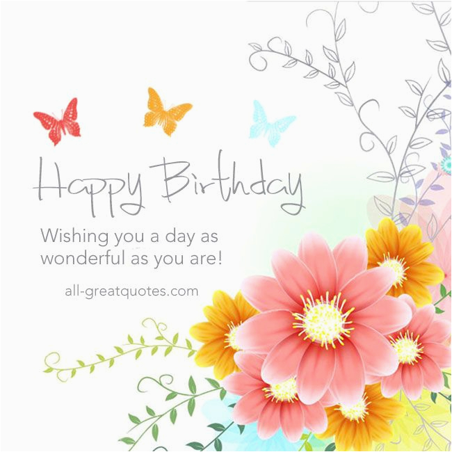 Free Birthday Cards Facebook Quotes Happy To