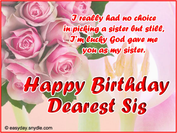 Free Birthday Cards for A Sister Birthday Wishes for Sister Easyday