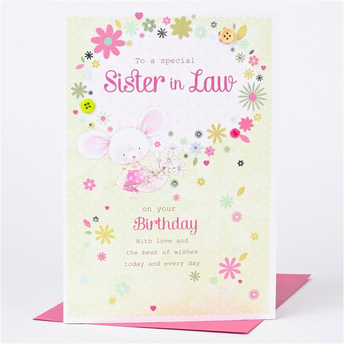 Free Birthday Cards For Sister In Law Card White Mouse Only 1