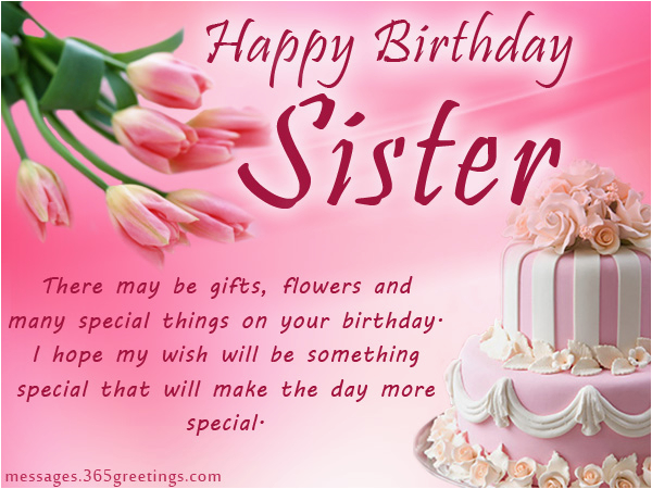 Free Birthday Cards For Sisters Happy Wishes Sister Wordings And Messages