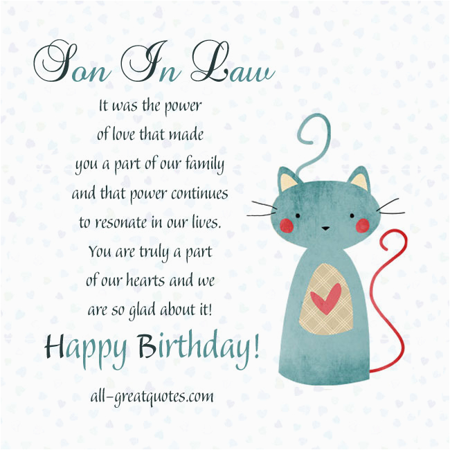 Free Birthday Cards For Son In Law Funny Quotes Quotesgram